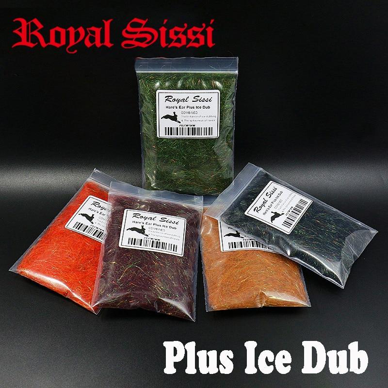 8 cores Hares Ear Plus dub Dub Gelo com coelho cabelo guarda Checa ninfa scud espetado & faísca fly ninfas da subordinação material para buggy