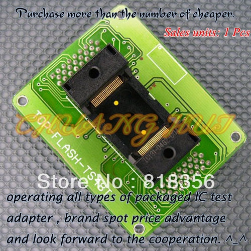 TOP-FLASH-TS48BT Programmer Adapter TSOP48 IC Test Socket  Pitch:0.5mm