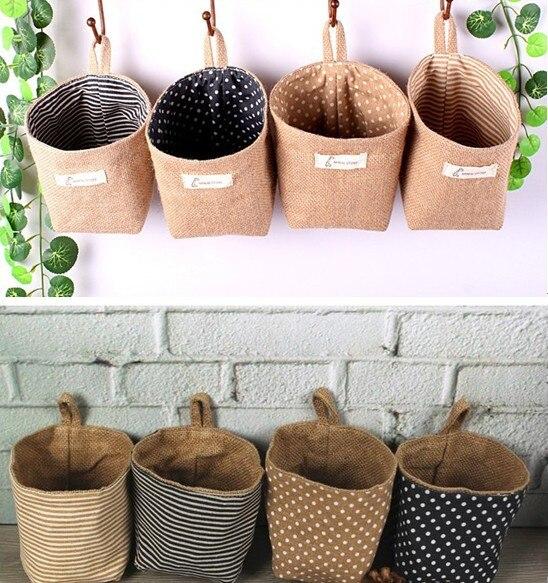 flower girl burlap wedding baskets jute basket/ jute weddng favors bags/ country wedding decoration flower pot