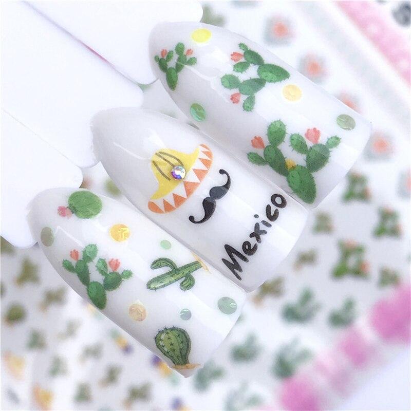 Adhesivo Ultra fino 3D calcomanía de uñas flores de melocotón flor de cerezo primavera calcomanías de uñas exquisitas herramientas de decoración de uñas