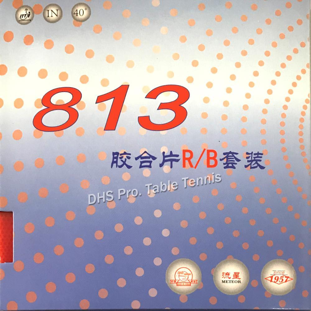 2x Meteor LiuXing 813 Goma de Pingpong con esponja para raqueta de tenis de mesa bat