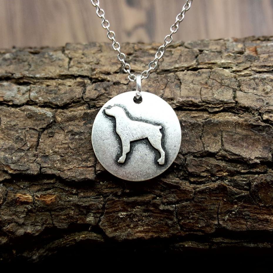Bretagne hond ketting ronde hanger hond ras keepsake of dier keuze mode-sieraden sanlan