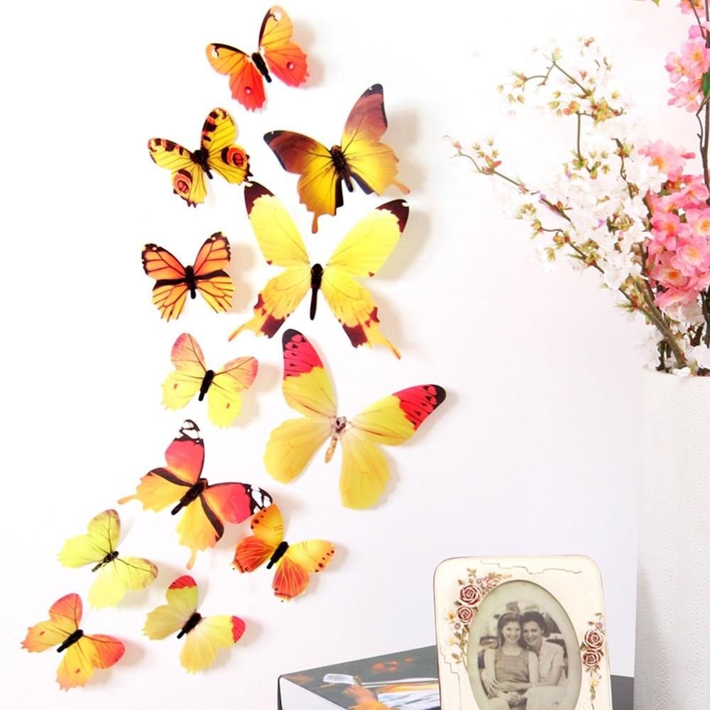 12pcs 3D DIY Wall Sticker Stickers decorations for home butterfly wall stickers Room Decorations home decor new 408