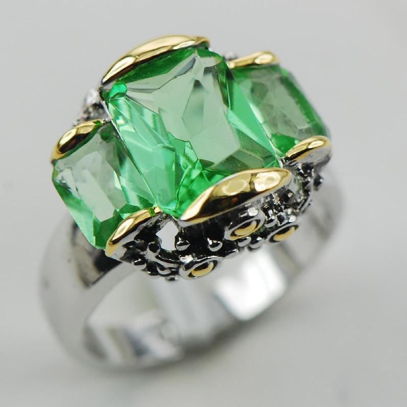 Peridot 925 Sterling Zilveren Ring Maat 6 7 8 9 10 F996