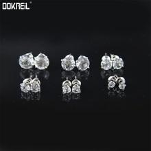 6 para Set Runde Cut CZ Stud Ohrringe Klar Zirkonia Ohr Studs Simulierte Diamanten Prong Einstellung Luxury Vintage Earing 2019