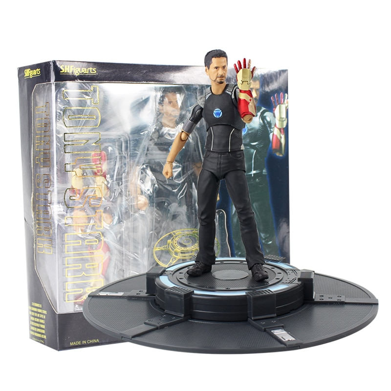 14,5 cm Iron Man Action Figur Tony Angetrieben Bühne Tony stark Gepanzerte Avengers Modell Spielzeug