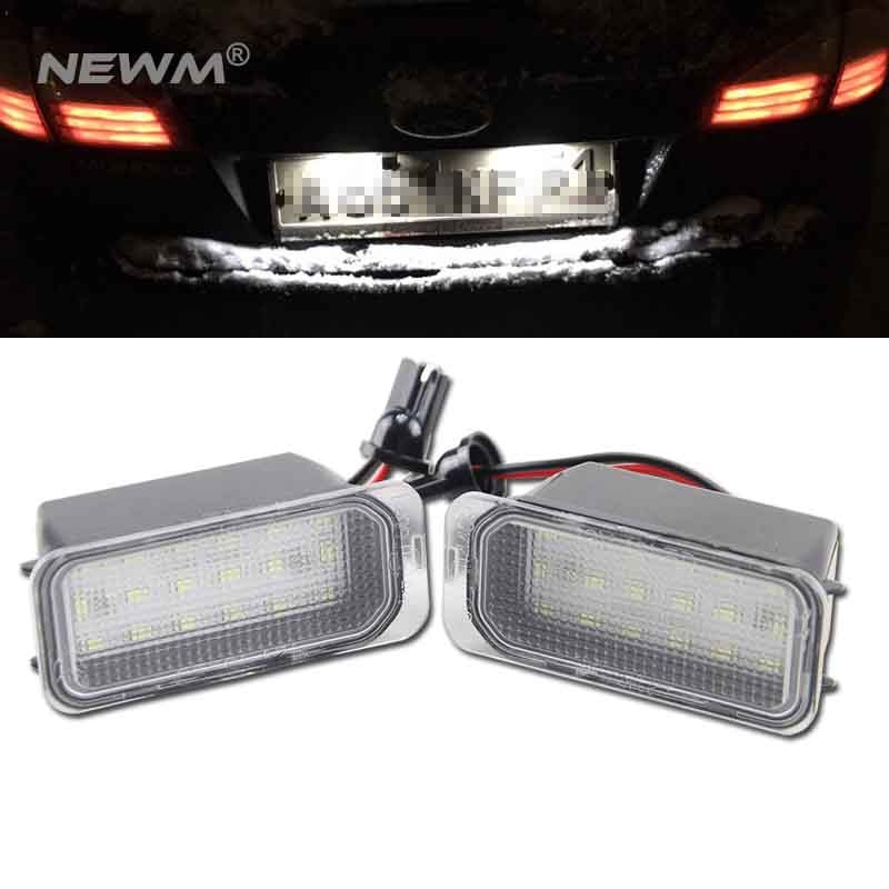 2x LED światło do tablicy rejestracyjnej dla Ford MONDEO MK4 IV 4 CANBUS
