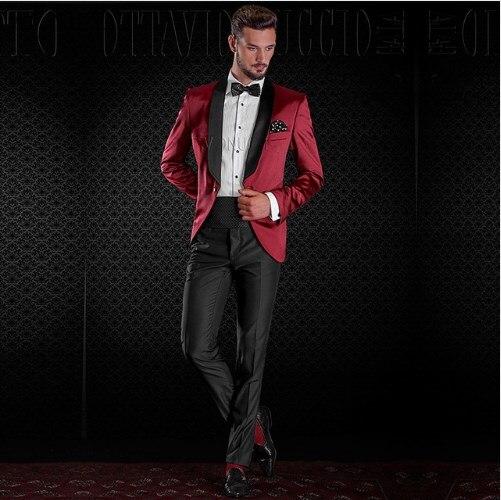 بدلة زفاف رجالية عالية الجودة ، بدلة زفاف ، حفلة موسيقية ، أفضل سترة ، بنطلون ربطة عنق ، شال رفقاء العريس ، جاكيت ، A100
