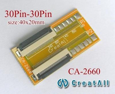 10 piezas 0,5mm espaciado 30Pin FPC FFC Lcd Led 30Pin a 30pin FPC/FFC cable creciente línea de pantalla placa de conector de cable de extensión