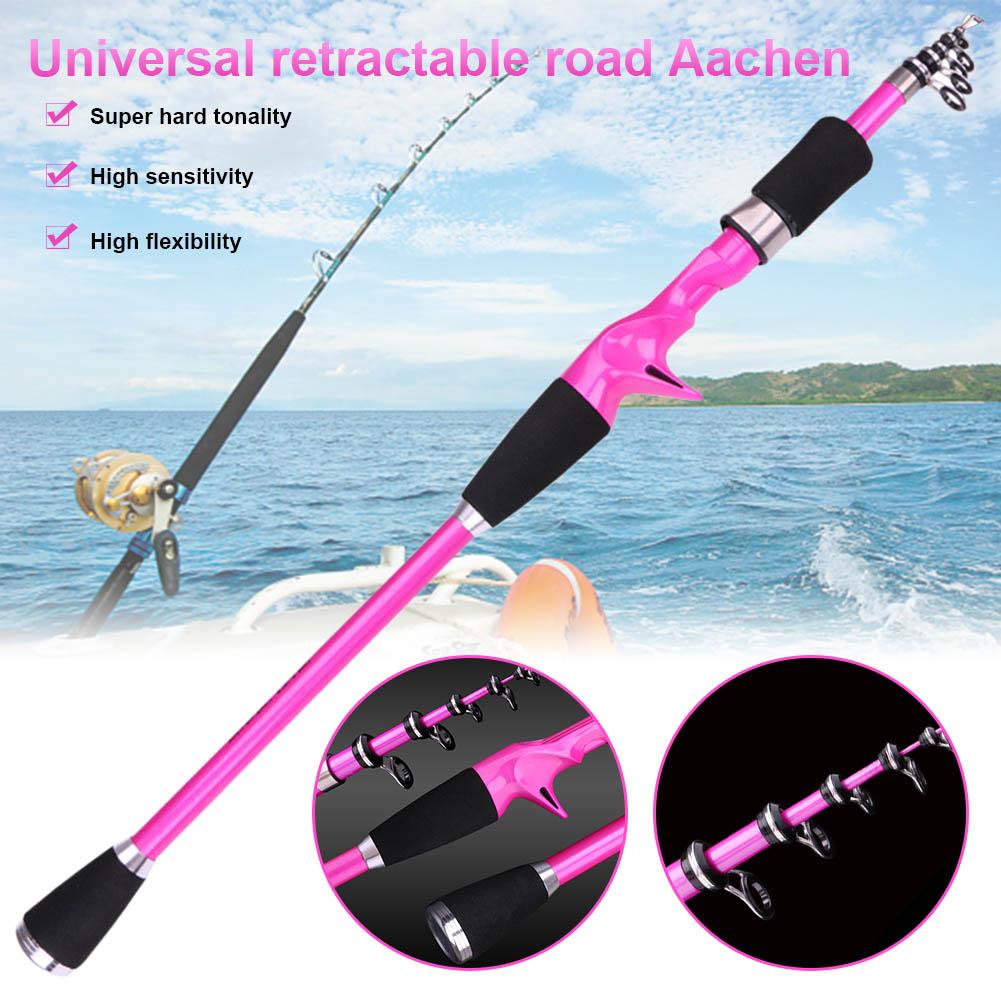 Carbon Fiber Telescopic Fishing Rod 1.8-2.4M Portable  Fishing Ultra-short  Rod Hand Tackle Sea Ocean Lightweight Fishing Rods