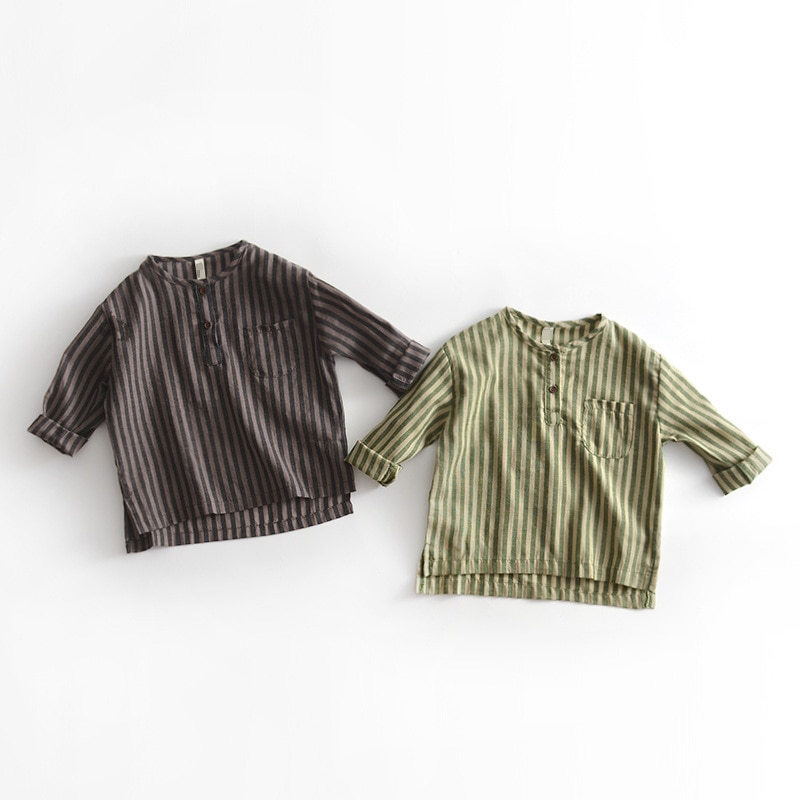 Mabeezo оптовая продажа Полосатые рубашки длинный рукав осень хлопок Футболки для