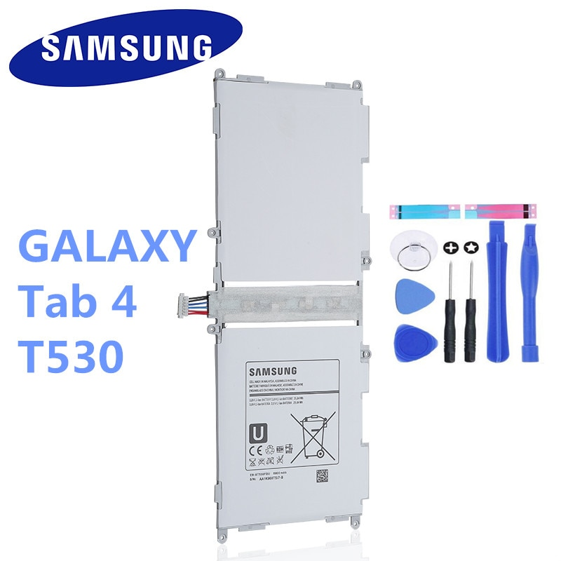 "6800mAh EB-BT530FBC 4 EB-BT530FBE Bateria de Substituição Para O Samsung Galaxy Tab Tablet 10.1 ""T530 T531 T535 P5220 SM-T530NU"