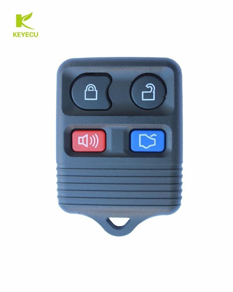 Keyecu 10 pces xhorse (versão em inglês) para vvdi ferramenta chave vvdi2 universal remoto chave 4 botão xkfo02en