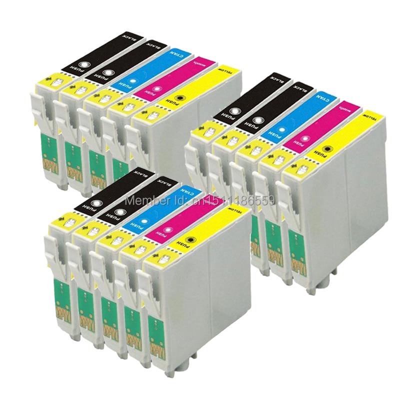 15 cartuchos de tinta para impresora de inyección de tinta Stylus SX425W SX-425W SX 425W