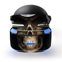 Autocollant de peau en vinyle imperméable amovible crâne autocollant protecteur de peau pour Playstation VR PS VR PSVR Protection de la peau du Film