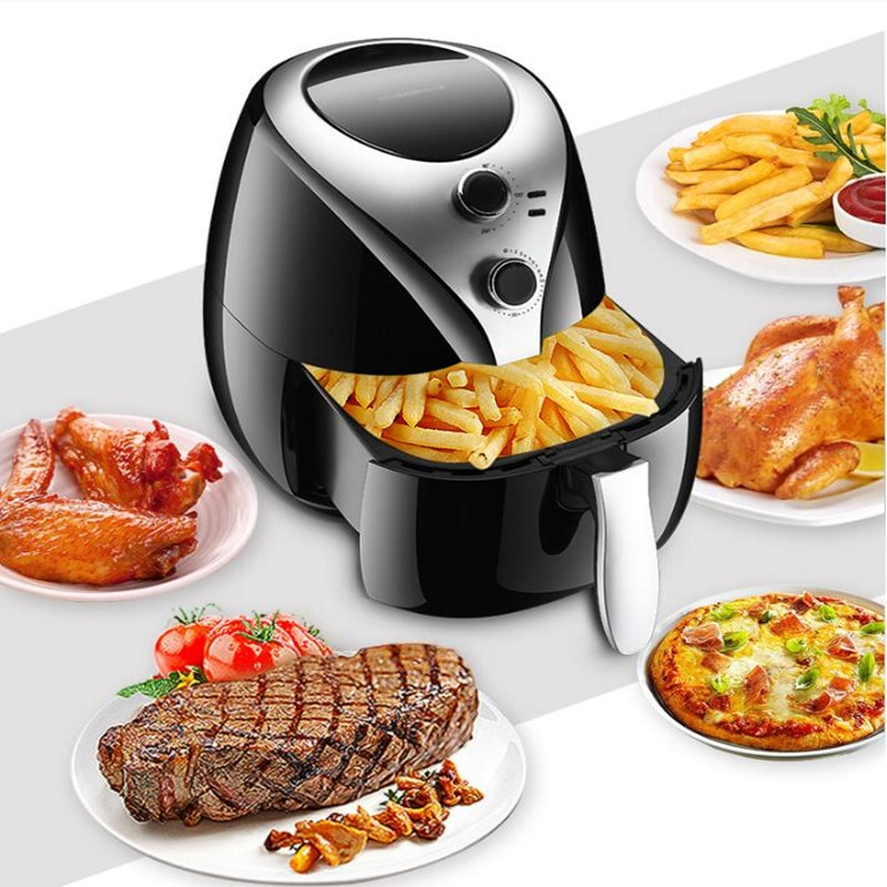 220 V multifunción para el hogar 5L freidora eléctrica antiadherente de aceite sin humo freidora de patatas fritas máquina EU /es/UK/US
