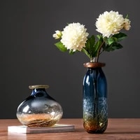 glass vase nordic ice crack simple glass vase home jewelry decoration flower inserter gift