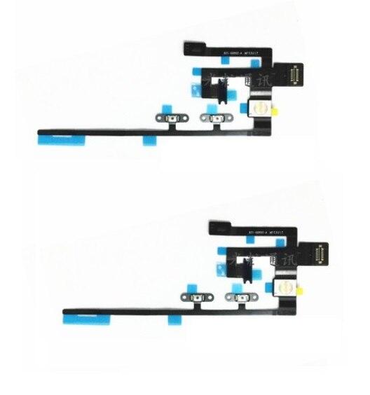 50 unids/lote botón de encendido On Off cinta de cable Flex para iPad Pro 10,5 pulgadas A1701 A1709 Control de volumen tecla lateral
