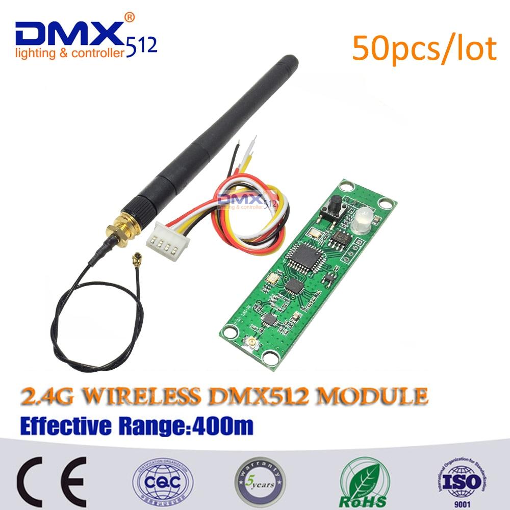 Беспроводной DMX приемник, беспроводной DMX512 передатчик, приемник, светодиодный, 2,4 ГГц, PCB