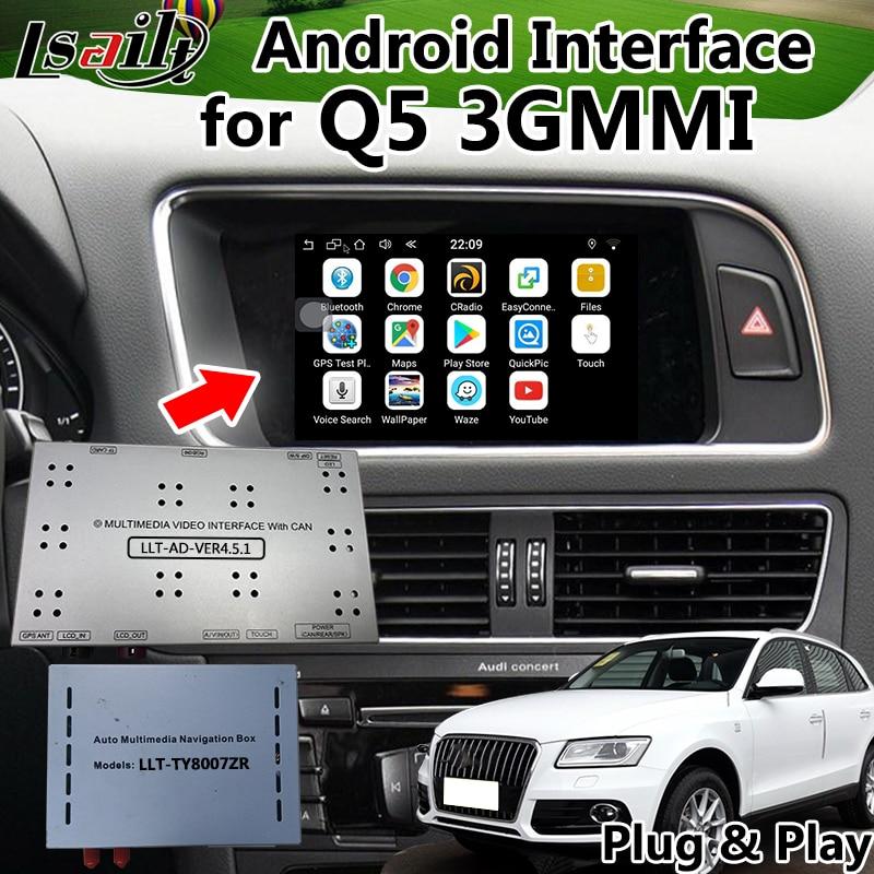 Interfaz de navegación GPS de Android 6,0 para AUDI Q5 3G MMI con Mirrorlink, WIFI, mapa en línea, navegación en vivo, etc.