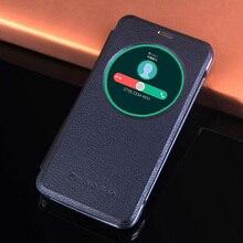 Housse de protection en cuir antichoc pour Asus Zenfone Max ZC550KL ZC550 ZC 550KL 550 KL cercle vue intelligente réveil automatique