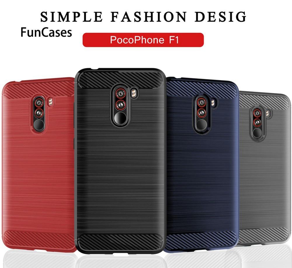 Funda Pocophone F1 para Redmi Note 7 6 Pro, funda de fibra de carbono de lujo para Xiaomi Mi 9 A2 Lite 6X Redmi Note 5 6A 6, funda