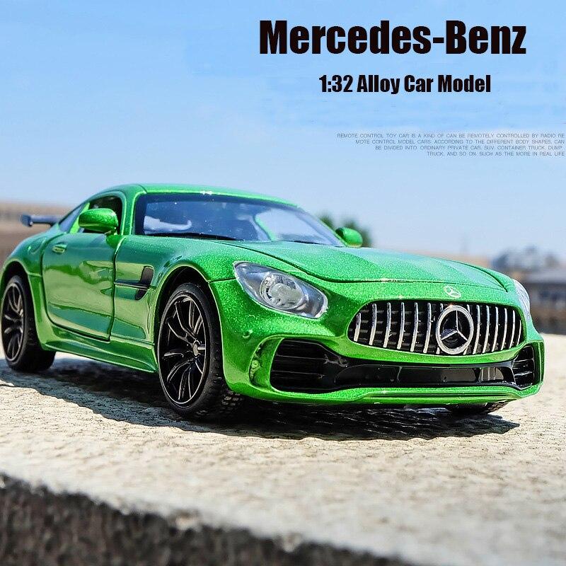 1:32 игрушечная машинка BENZ GTR AMG, металлическая игрушка из сплава, супер-автомобиль, модели автомобилей, миниатюрные весы, модель автомобиля, игрушка для детей