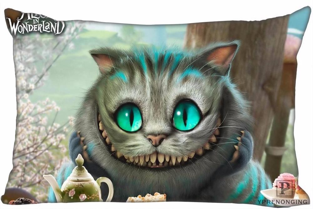 Besten Custom Cheshire Katze Alice Kissen Abdeckungen Fällen Rechteck Kissen zipper 35x45cm (Eine Seite Drucken) 180516-sina-11
