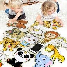 INBEAJY bébé enfants formation puzzle animaux chat/chien/tigre développement puzzle jouets carton puzzle jouet éducatif