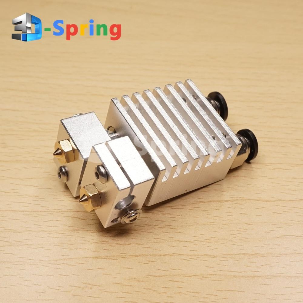 Chimera Hotend набор экструдер сопло для 3D принтера двойной алюминий 1,75 мм 3 мм нити титана PTFE тефлон тонкая отделка