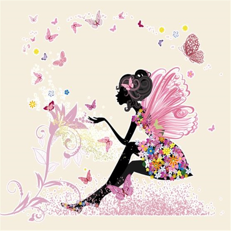 Ropa de mujer 210mm mariposa bonita Hada impresión para transferencia con plancha parches para ropa camiseta motero parche PVC de calor pegatinas