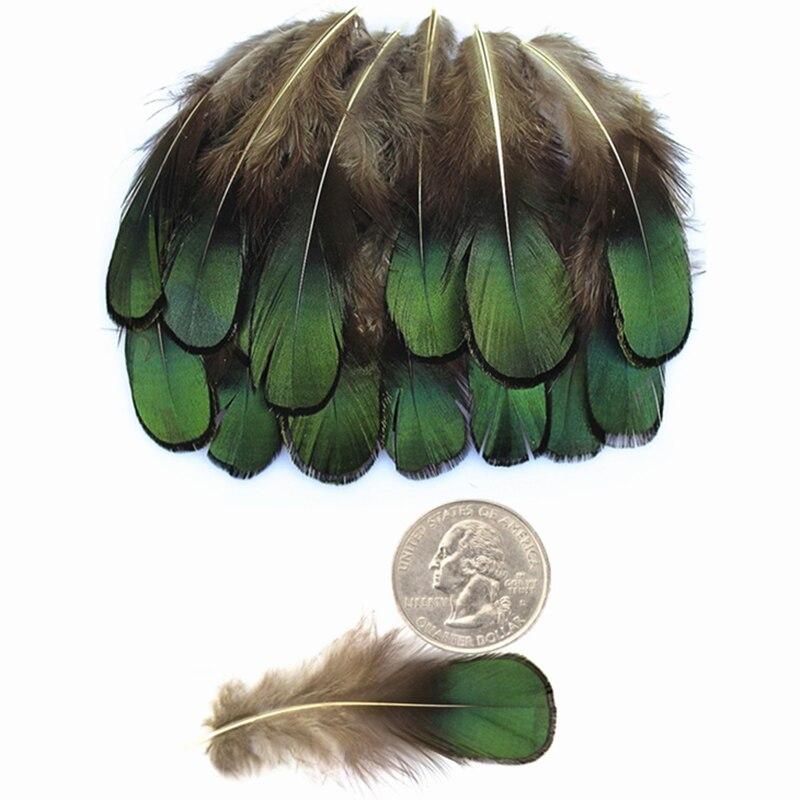 Натуральные зеленые бронзовые перьевые перышки Amherst для рукоделия 5-8 см перышки для изготовления украшений перышки Plume