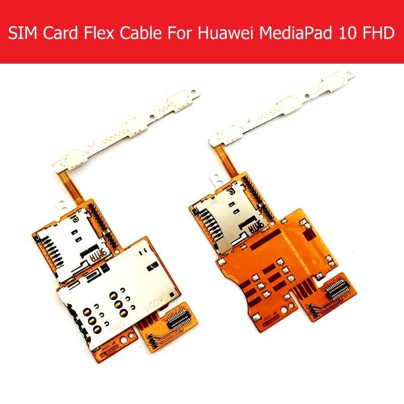 Câble flexible double et simple pour carte Sim pour Huawei MediaPad 10 FHD S10-101 alimentation et Volume et lecteur de carte mémoire