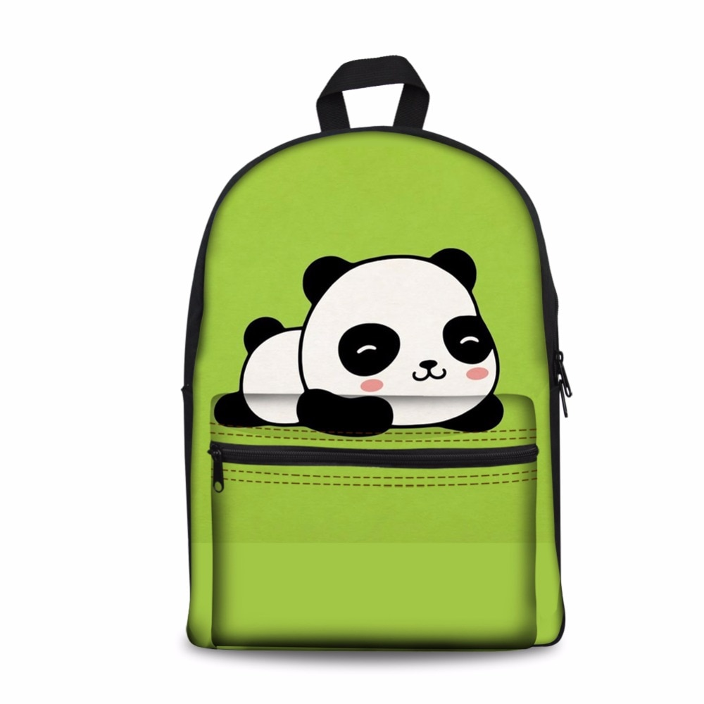 Noisydesigns Mochila escolar para hombre, bolsa para niños, Panda Pattrn, niñas, Mochila de lona, Mochila para mujer, Mochila para niños