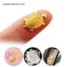 Tortuga de dinero japonés Asakusa templo pequeña tortuga dorada que protege orando por la fortuna decoraciones para el hogar