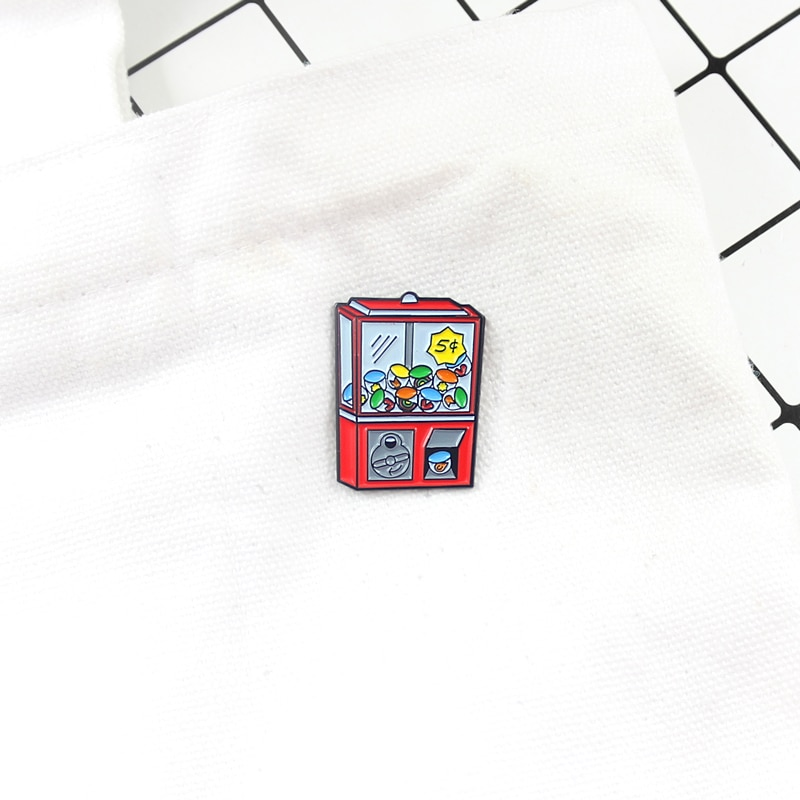 Game Machine Brooch Retro Game Machine Game Over Game Console School Arcade Enamel Pin Shirt Backpack Badge Boy Girl Play Gifts  - buy with discount