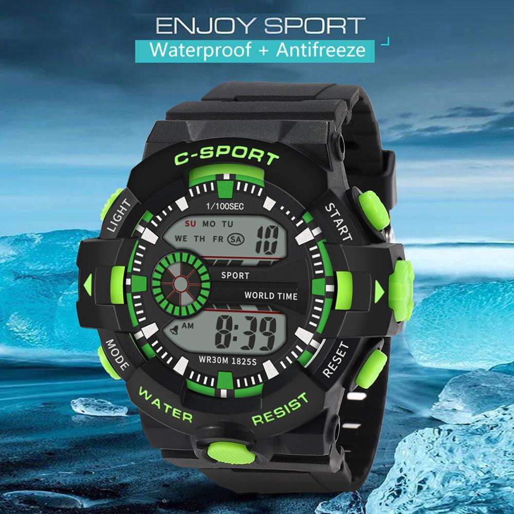 Men's Multi Function Military Sports Watch Luxury Men Analog Digital Sport LED Waterproof Wrist Watc