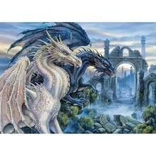 H834 YIKEE-peinture diamant deux dragons   kit de peinture diamant, peinture daimond