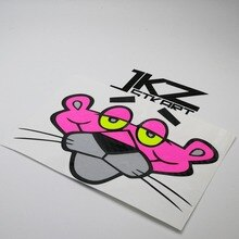 JKZ STKART Vinyl Die Cut Multi-layer Stickers Decals Cartoon Pink Panther Ha 15cm x 12cm for ATV Motor Bike Laptop