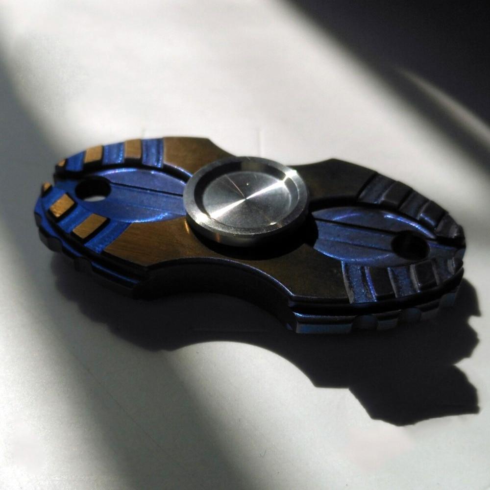Alpha Wars Texas siws Fidget Spinner titanio Trenches giratorio dedo EDC de giro adulto Anti estrés niño juguetes ukiyo-qing