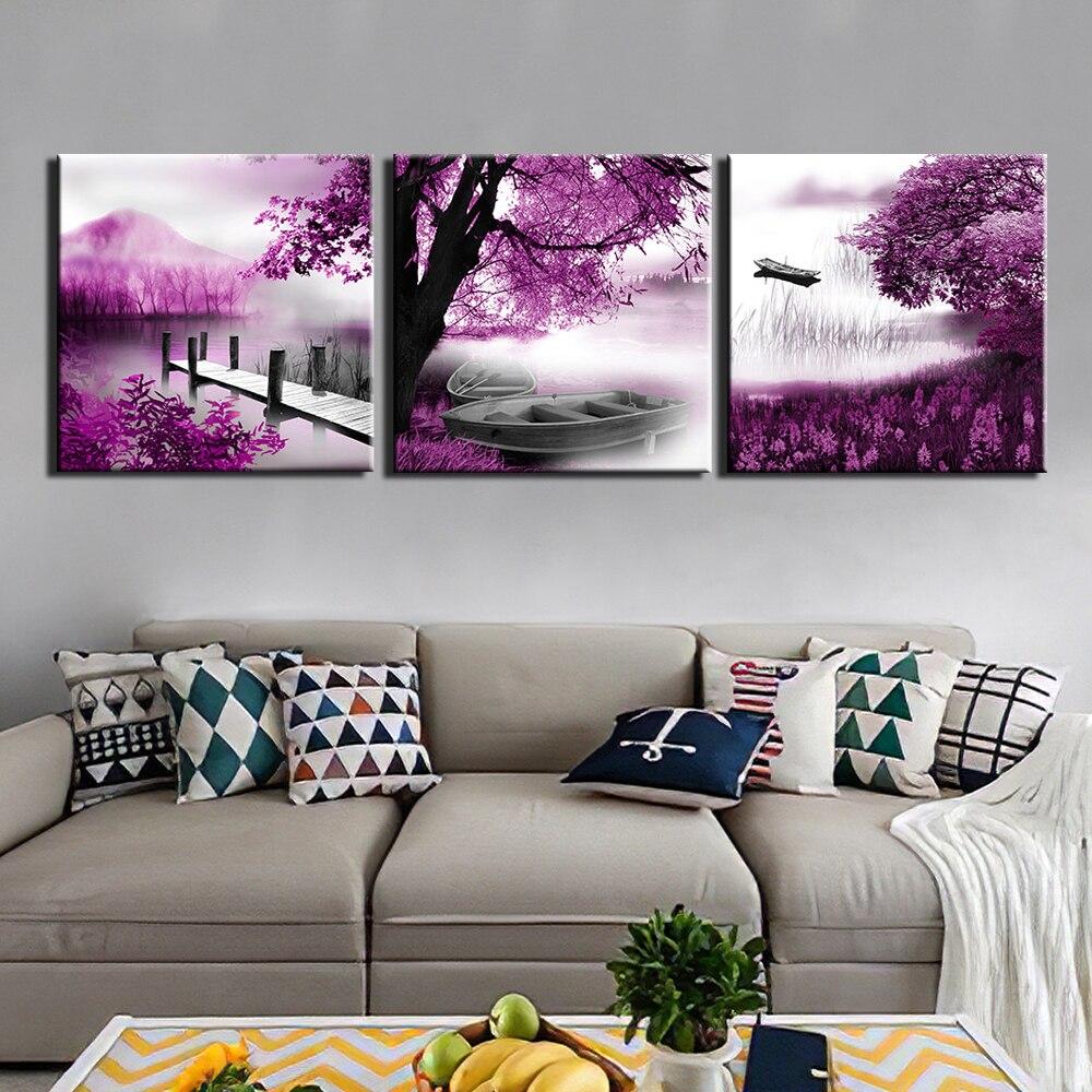 Lienzo pintura moderna 3 uds impresiones de alta definición arte carteles ilustraciones pared paisaje artístico imágenes para sala de estar decoración del hogar