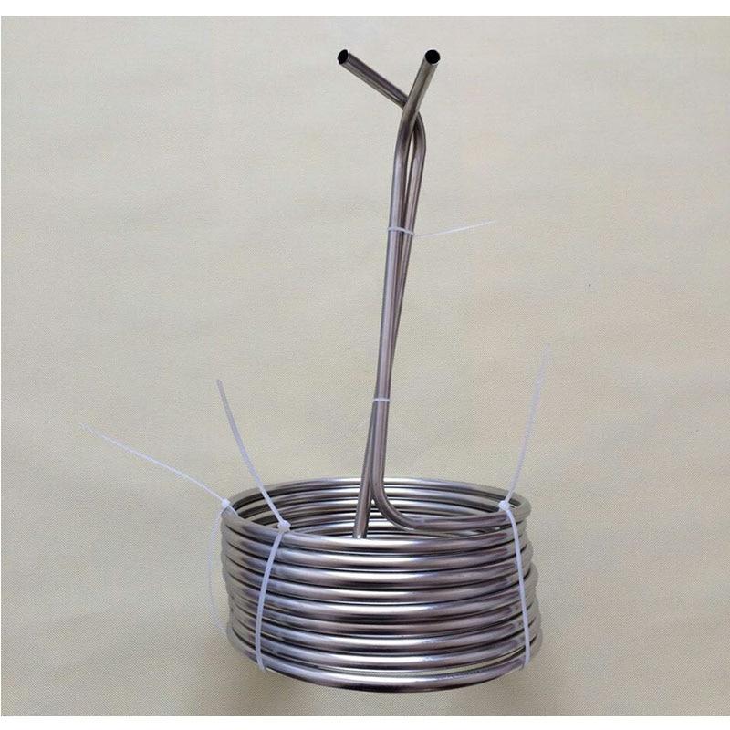 """Super Efficient 3/8"""" x 25' food grade 304 stainless steel Wort Chiller beer cooling coil or malt juice cooler for homebrew"""
