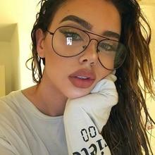 Brand Designe Aviation Women Glasses Frame Plus Size Vintage Glasses Men Metal Twin Beam Oversized Eyeglasses Clear Lens Thin