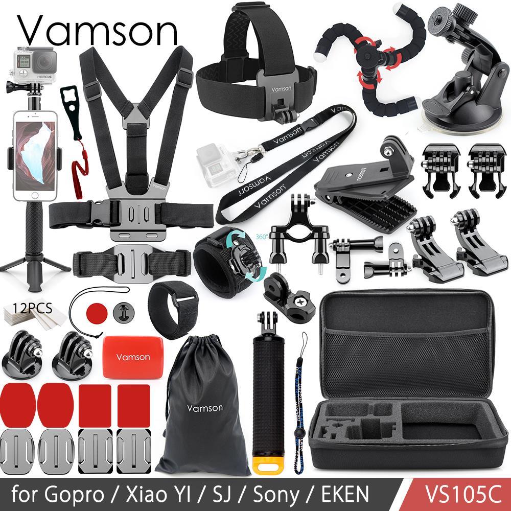 Набор аксессуаров Vamson для Gopro Hero, монопод для Go pro hero 7 6 5 5S 4 3 + 3 для EKEN H9 для xiaomi для yi 4k VS105B