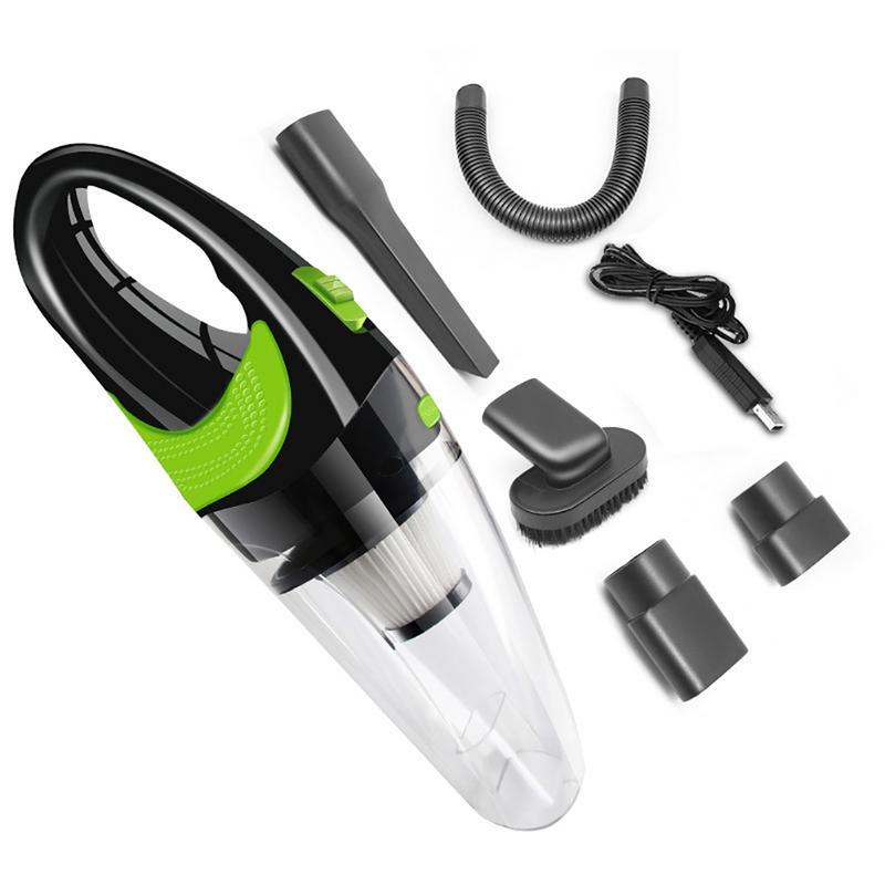 Limpiadora de coche portátil Universal de 120W, limpiador de vacío portátil, limpiador de vacío portátil multifunción inalámbrico para coche de doble uso húmedo/seco