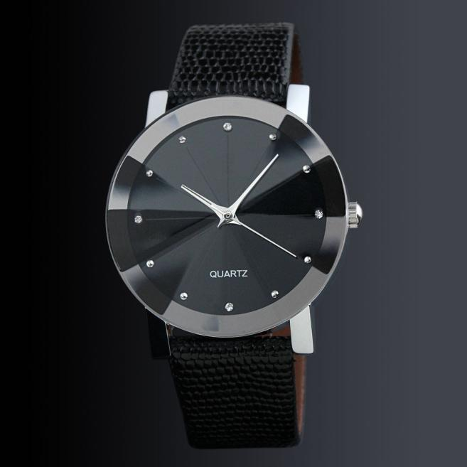 Reloj Casual de marca de lujo para mujer 2018, reloj para hombre, pulsera de cuero PU, pulsera de cuarzo estilo geneva, reloj de pulsera analógico, reloj femenino