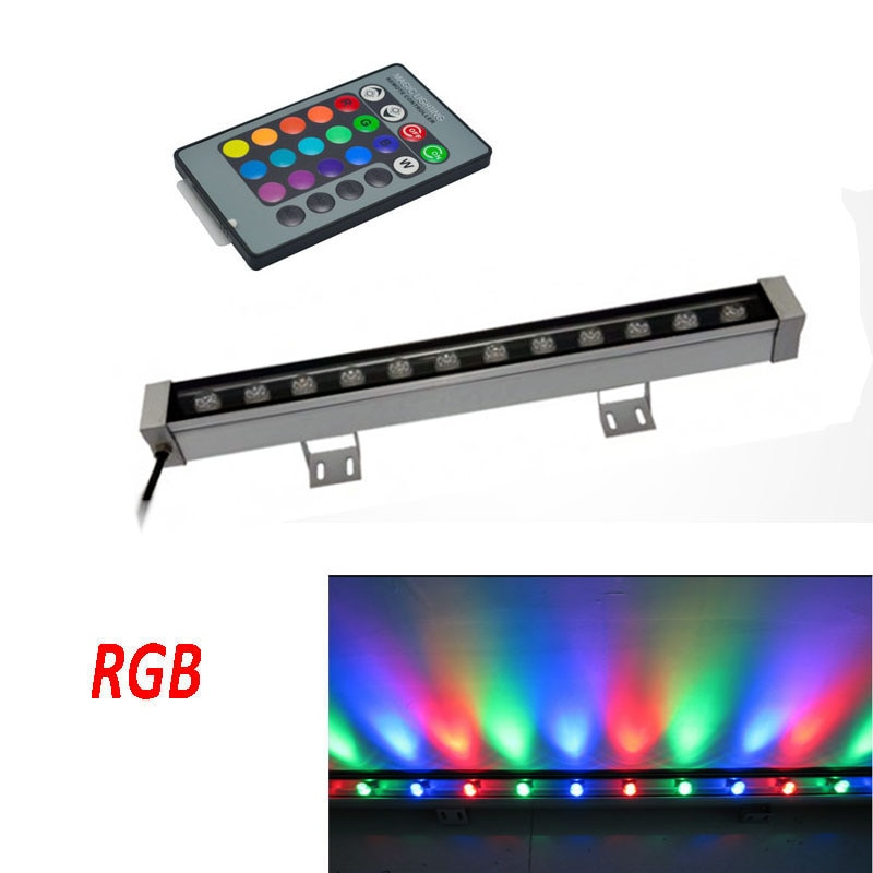 2pcs/lot,IP65 Waterproof 12W LED Wall Washer AC85-265V InputLED Floodlights 500mm Long Linear Lamp