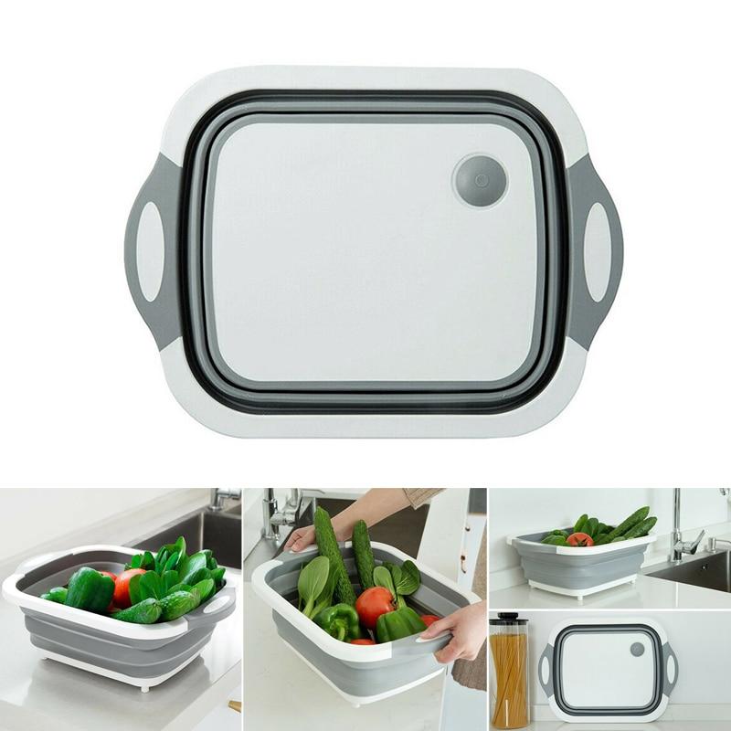 Dayvion-سلة تصريف متعددة للأدوات 4 في 1 ، قابلة للطي للمطبخ ، للفواكه والخضروات ، BDF99