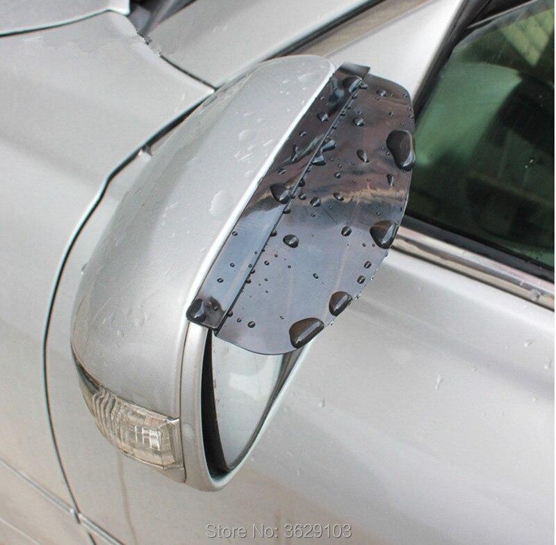 2 sztuk/partia pcv samochodów lusterko wsteczne deszcz brwi naklejki samochód stylizacji dla Porsche cayenne macan 911 panamera 997 996 918 955