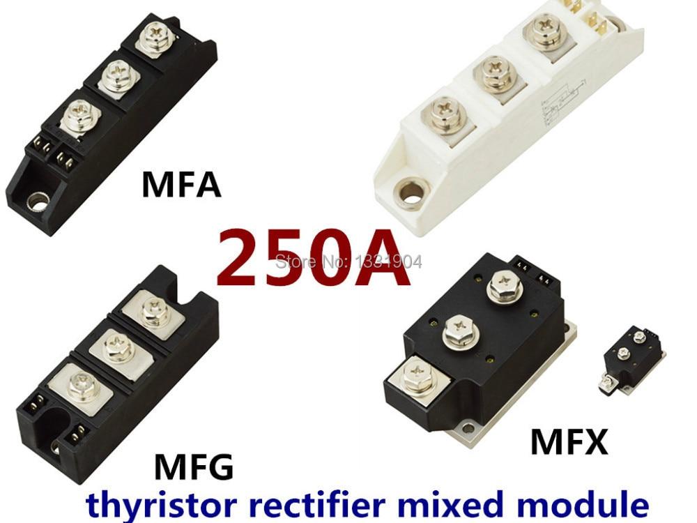 hot sale 250A Thyristor Rectifier diode mixed Module MFC MFA MFK MFX 250A welding joint free shipping